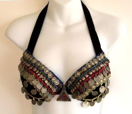 Deluxe Afghani Textile Bra - $95.00 : Anaya Tribal~Your style of Tribal style