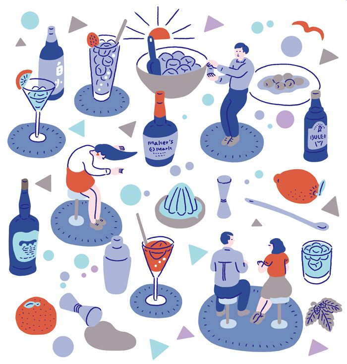 CYAN 2015 AUTUMN   Canned and Gymnastics   Illustration Cocktail