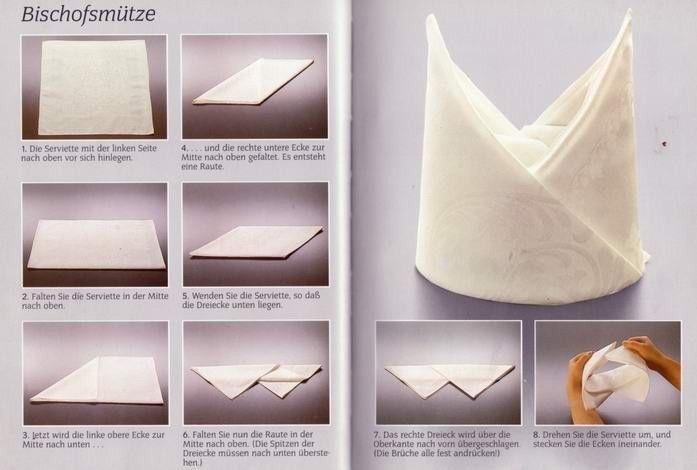 folding napkins - Servetten vouwen