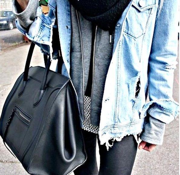 Αποτέλεσμα εικόνας για denim jacket on hoodie street style