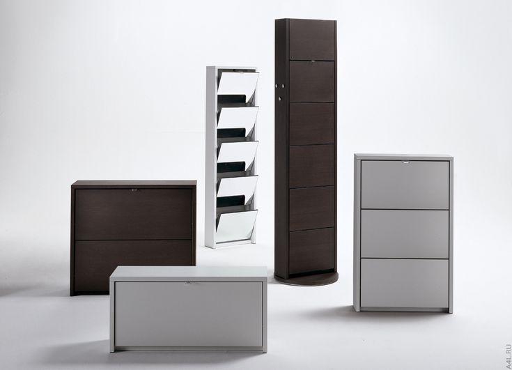 Мебель в прихожую. Модульные шкафчики для хранения обуви.