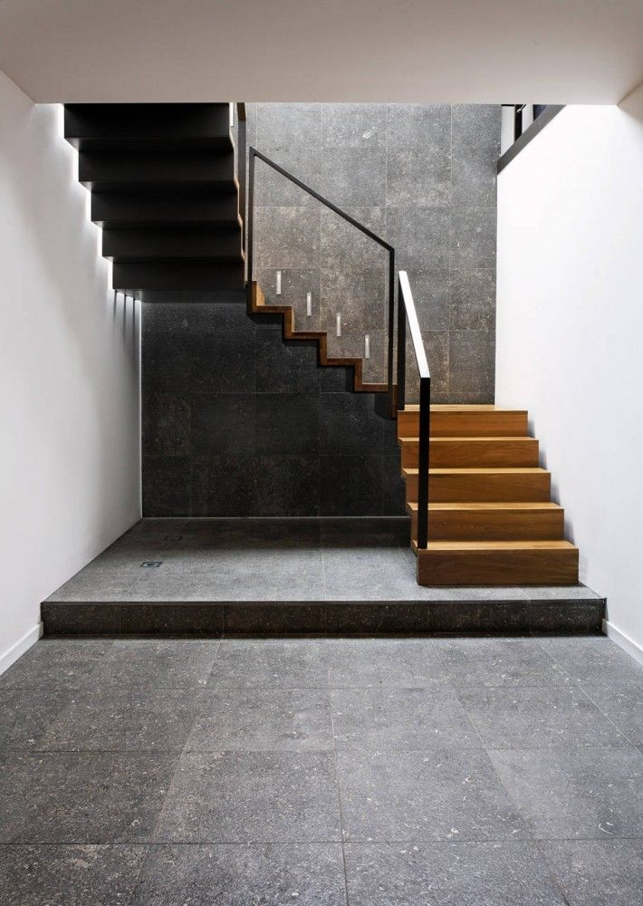 Farmyard / Hilberink Bosch Architects. LOVE the negative space under the stairs