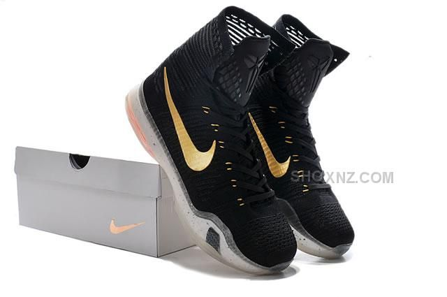 Kobe 10 Elite Rose Gold Black Golden XDR Top High