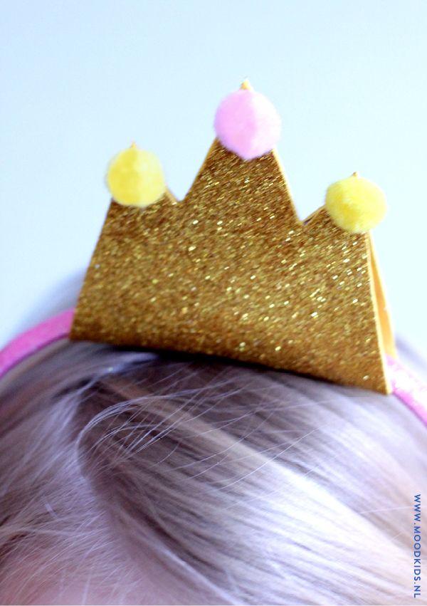 diy, haarband, kroon, gewei, kerst #diy #crown #deer #antler #kids