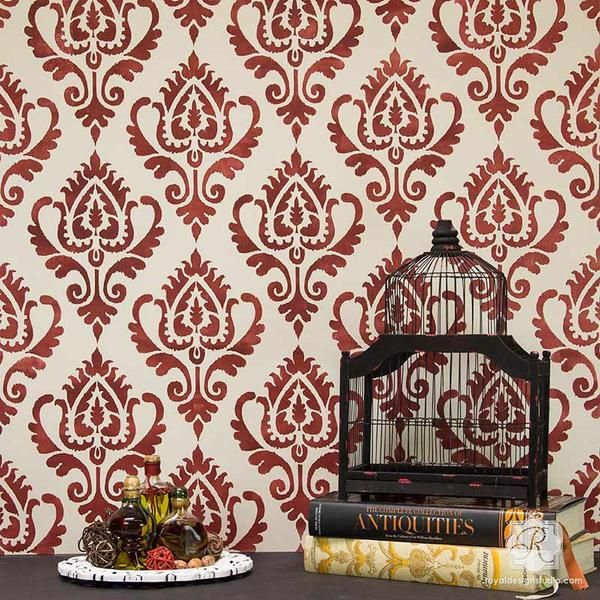 Ikat Stencil Pattern for Painting Walls and Furniture - Royal Design Studio