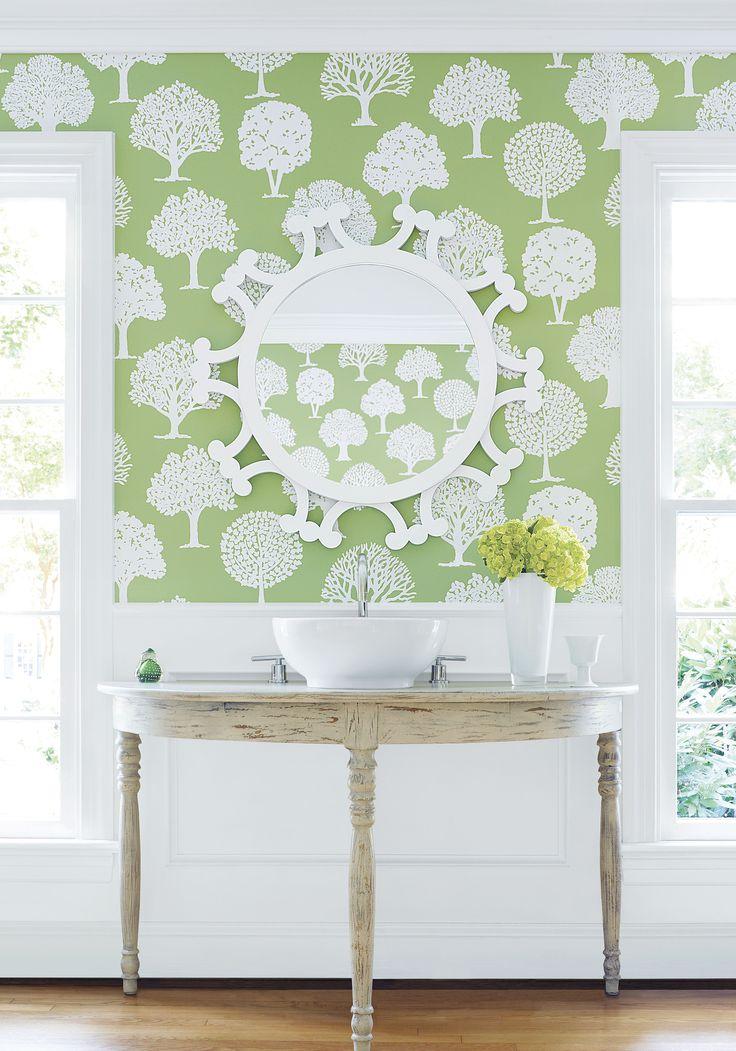 A stunning tree motif wallpaper design by