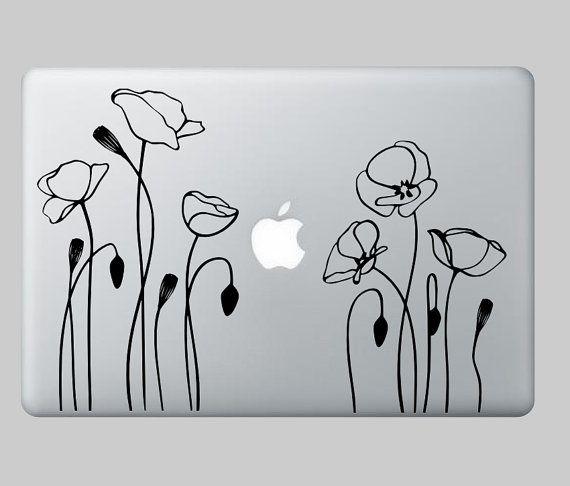 California Red poppy ,laptop,macbook ,Mac,Notebook,tablat wall  or car rear window decal