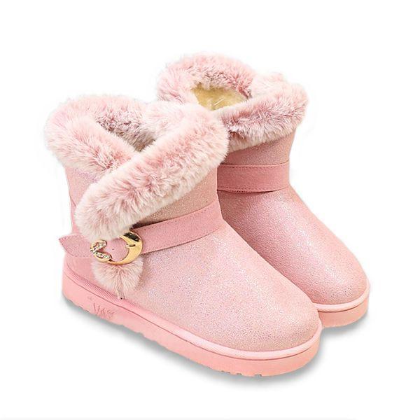 Sale 28% (33.94$) - Winter Ladies Warm Snow Boots Paillettes Low Heel Boots Round Toe Ankle Short Boots