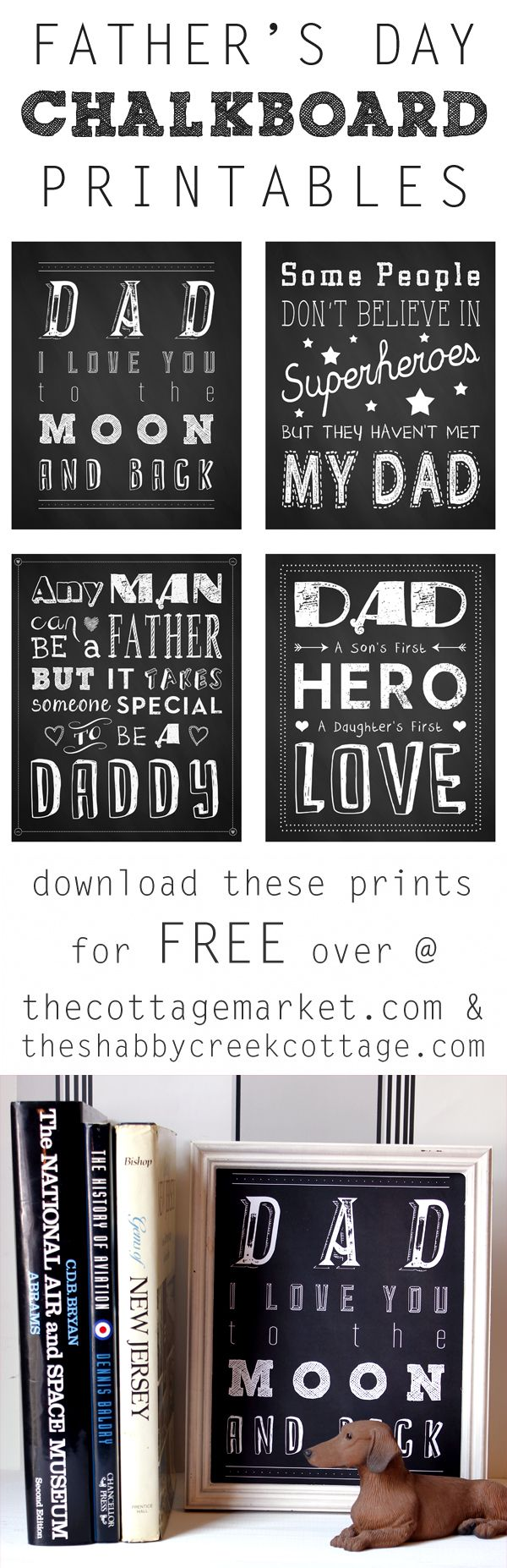 Father's Day Chalkboard Printables