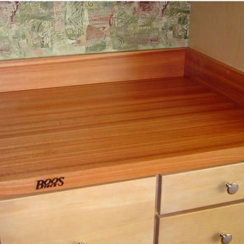 Example Of Natural Maple Cabinets With Butcher Block Counter Tops   RS  Series Maple Straight Backsplash By John Boos