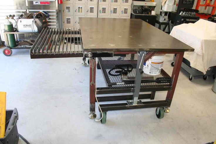 Welding table with adjustable feet workbench pinterest - Plan fabrication table ...