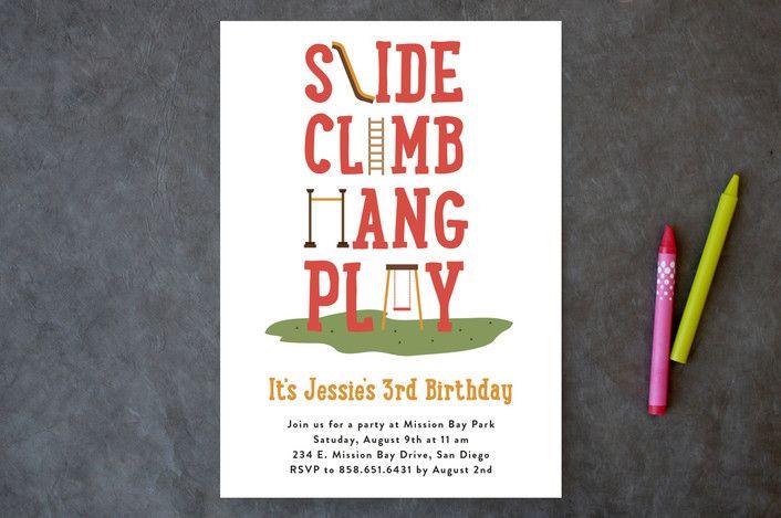 At The Playground Children's Birthday Party Invita... | Minted