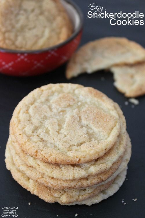 Easy Snickerdoodle Cookies Recipe! Homemade Cookies for Any Occasion! The perfect Cookie Jar Cookies for after school!