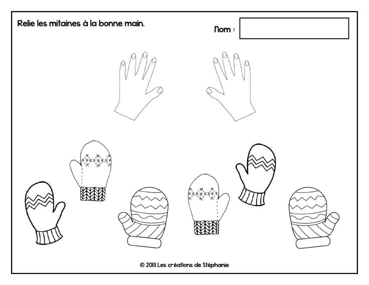 Relier les moufles à leur main droite ou gauche