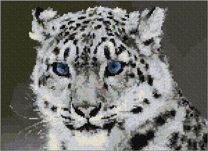 free cross stitch chart white tiger