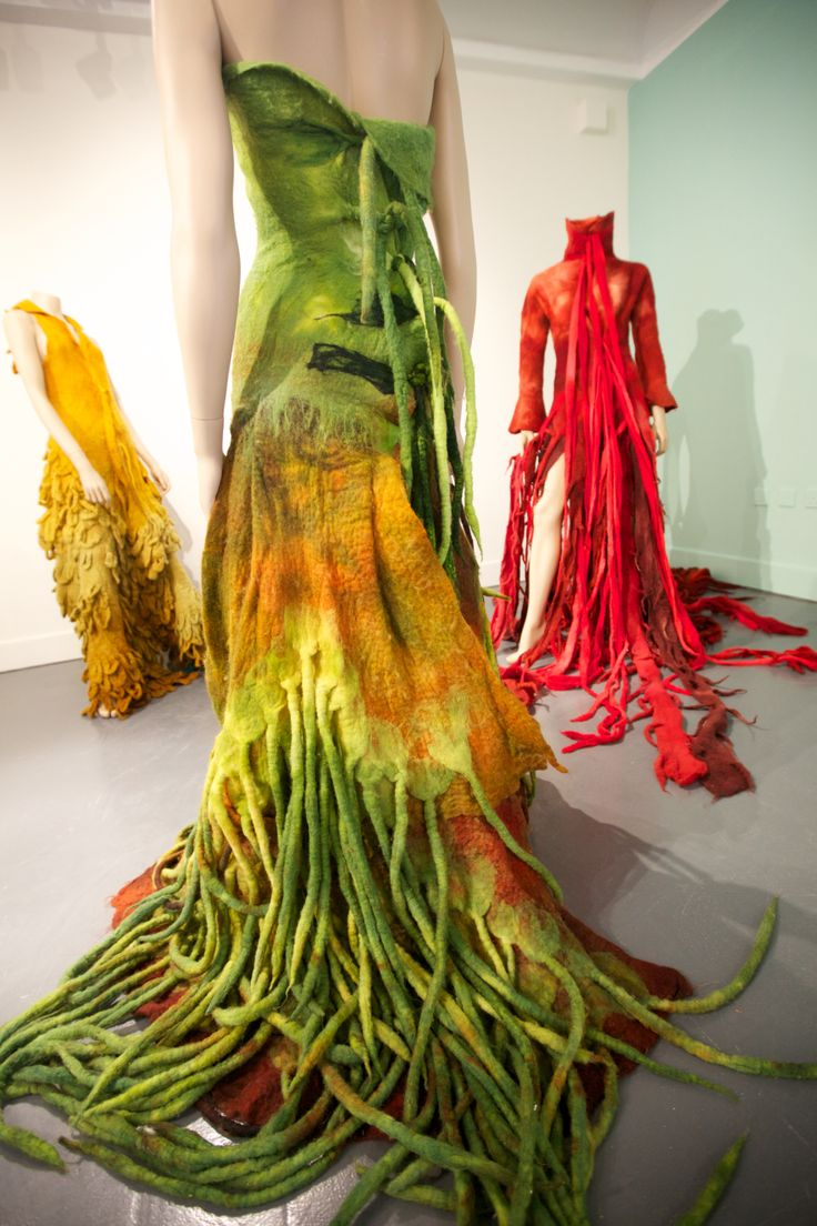 Gowns by Horst Couture in Black Sheep: the darker side of felt - curated by Laura Mabbutt