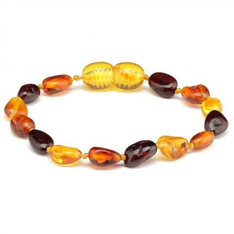 10 Pieces Amber Teething Bracelets Multicolour PBTB37