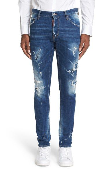 DSQUARED2 'Cool Guy Slasher' Slim Fit Jeans. #dsquared2 #cloth #