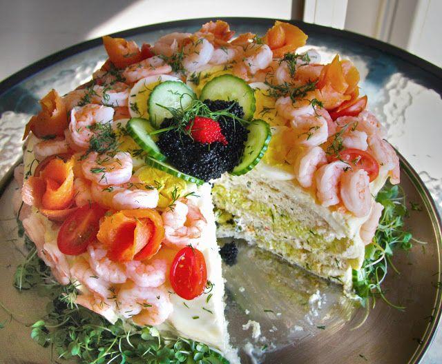 Smörgåstårta - sandich layer cake