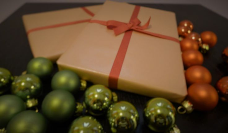 gifts for charity event, simple wrapping