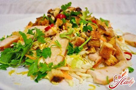Салат из китайской капусты курицы и ананаса b vfckf