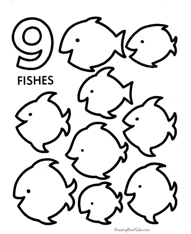 Preschool Printables These Free Printable Learning Numbers Coloring Pages Are Fun For Kids