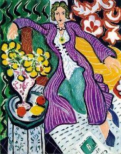 Henri Matisse, DONNA CON UNA GIACCA VIOLA, 1937, 81 cm x 65 cm, Colore ad olio, Houston Museum of Fine Arts
