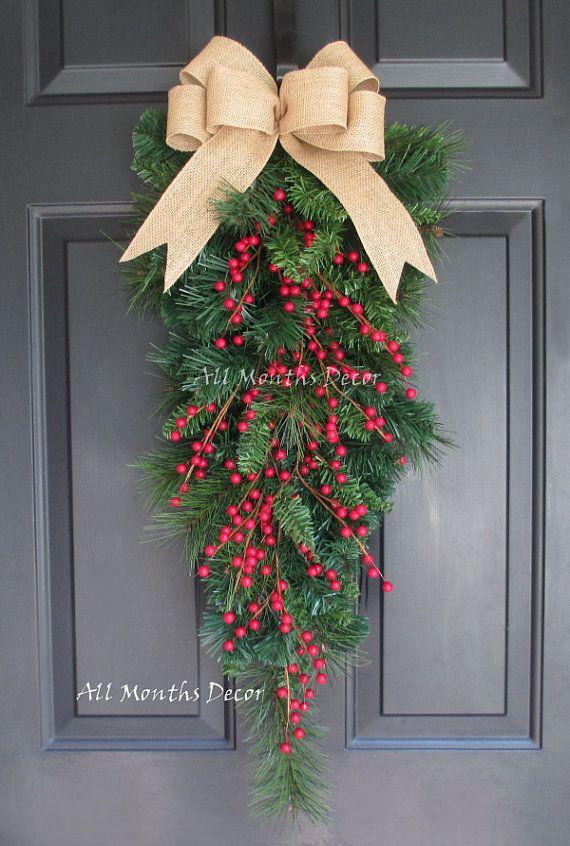 Guirnalda de pino Artificial la lágrima Navidad por AllMonthsDecor