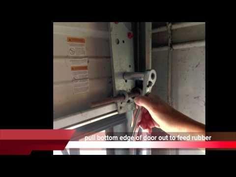 Garage Door Bottom Seal Replacement Material   Garage Door Seals   Elite Garage Floors
