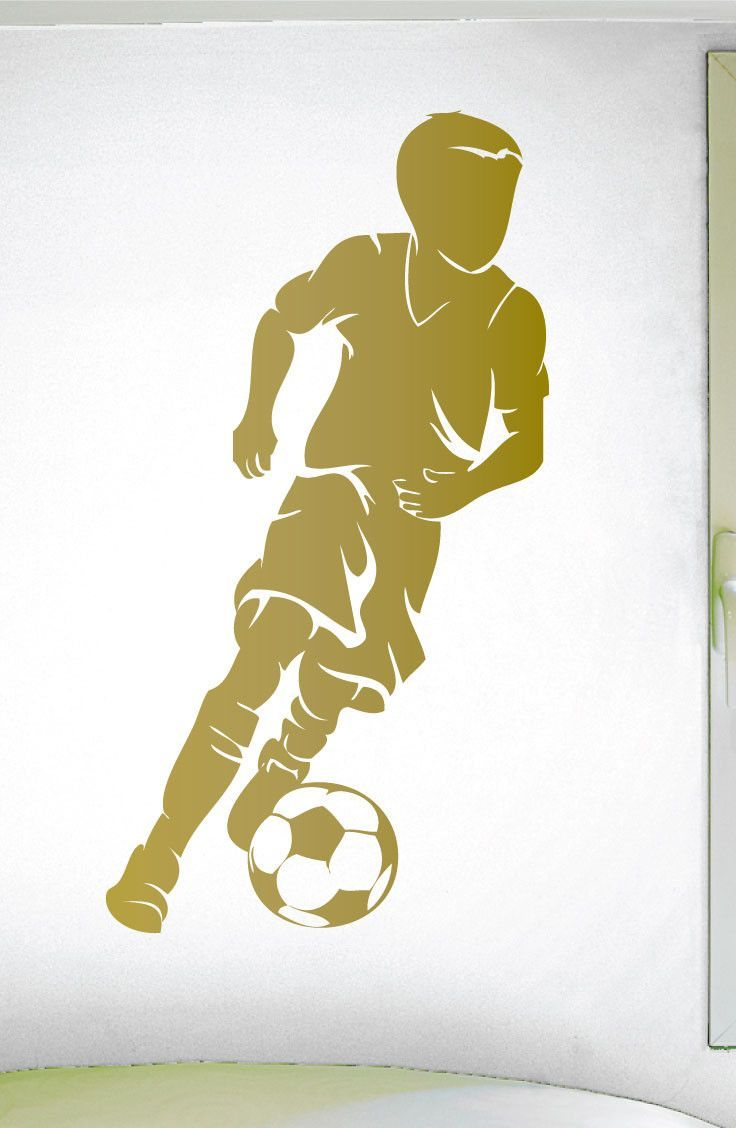 Boys Soccer Wall Sticker - 0293 - Soccer Theme Decal - Sports Decal - Dribbling - Futbol