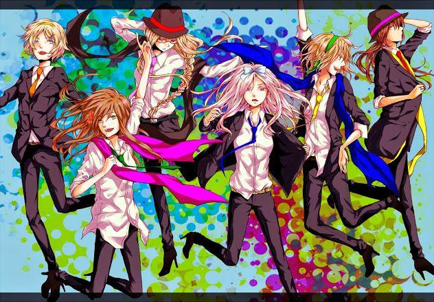 """""""How do we look in the suits, boys?~"""" Smirks. """"Aren't we just 'handsome'?""""   #hetalia #hetaliagirls #anime #suit"""