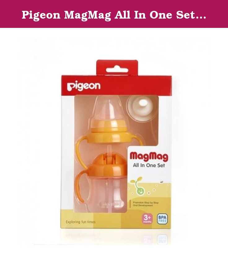 Pigeon MagMag All In One Set Training Bottle. Introduction. 1. Use under the supervision of parents closely. 2. Do not use the pacifier nipple. 3. The milk and the long continuity may cause tooth decay. 4. Check the temperature of water or milk before feeding the baby. 5. Should be cleaned before the first use. 6. cleaned after every use, boil for 3-5 minutes and the temperature should not exceed a maximum temperature of 110 degrees, which can cause overheating of the ACC trophy. ACC...