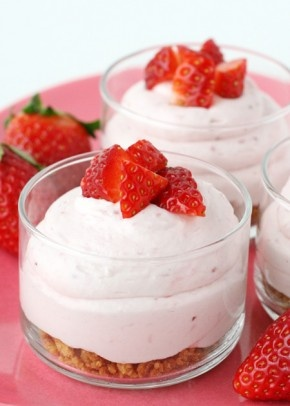 aardbeien - room toetje