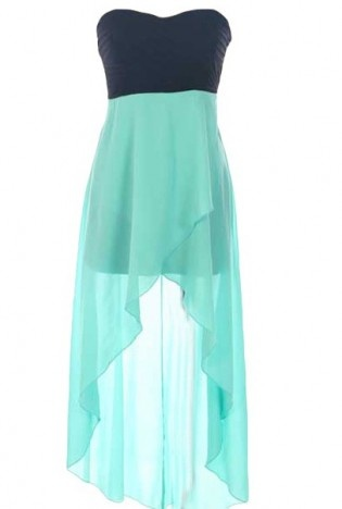 Absolutely love this!: Long Dresses, High Low Dresses, Turquoise Dress, Teal 3, Color, Cute Dresses, Teal Dresses, Strapless Dress, Aqua Blue Dresses High Low