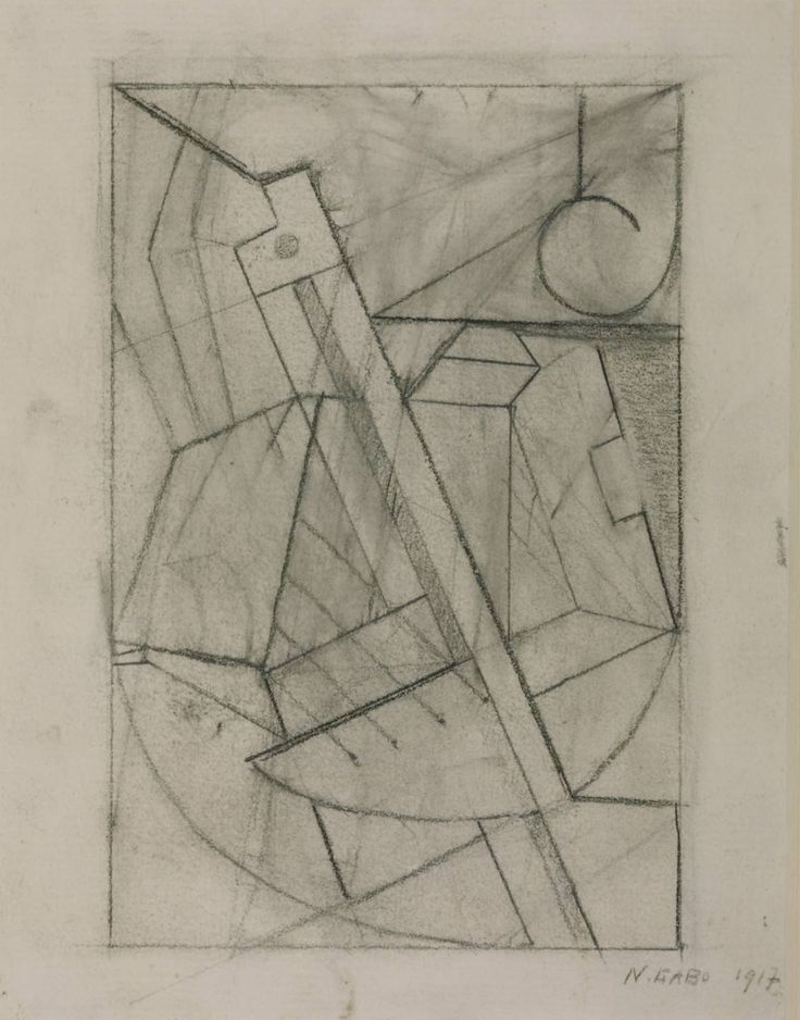 Naum Gabo, 'Sketch for Relief Construction' 1917