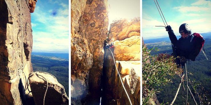 Les Blue Mountains en descente en rappel