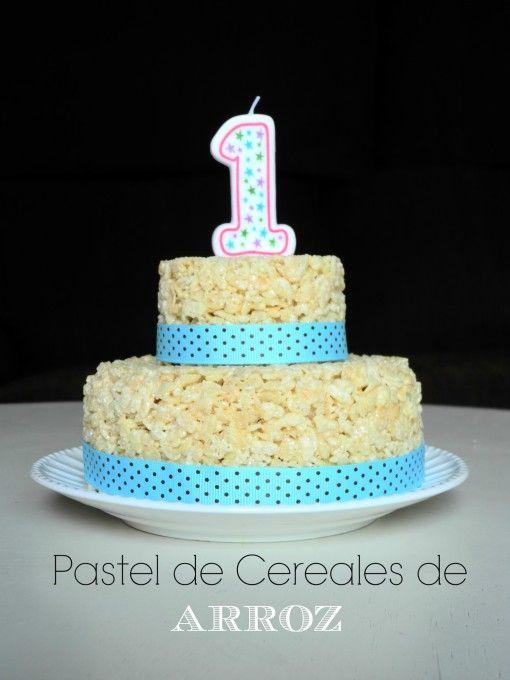 Pastel de Cereales de Arroz / Rice Crispy Cake - El Mundo de Patricia