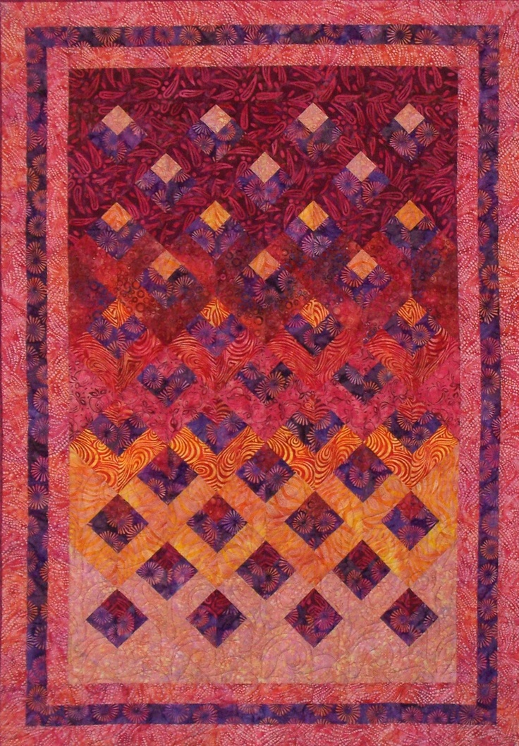 Reflections Quilt Pattern Created For Artisan Batiks At