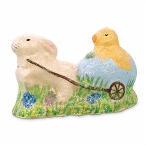 Bunny Pulling Chick Cart Bring It Backvintage Eastereaster Decorcartvintage Stylenow