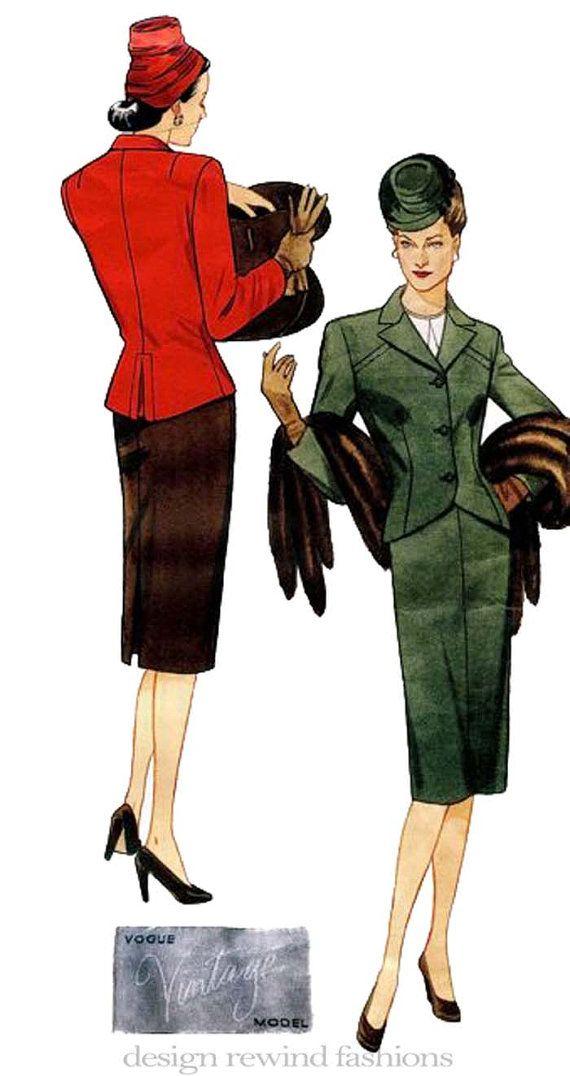 Vogue 2885 Vintage Original Designs 1944 by DesignRewindFashions, $24.00