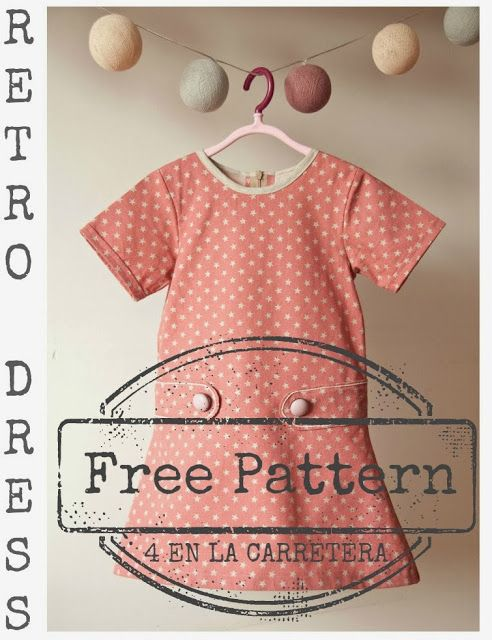 4 ON THE ROAD. Handmade: TUTORIAL: RETRO DRESS WITH PATTERN - RETRO DRESS WITH PATTERN