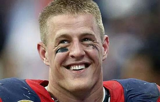 JJ Watt.......former Wisconsin Badger & now defensive end for the Houston Texans - 2014