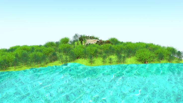 Tasarladığımız alanın sahilden görünümü