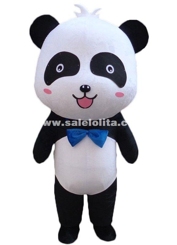 Cute Big Head Panda Mascot Costume Chinese Panda Cartoon Character Costume