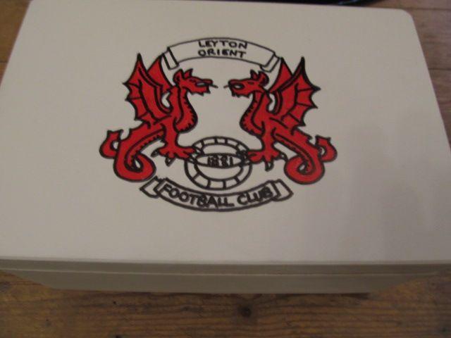 Handmade Leyton Orient Football memory box