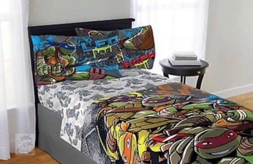 Teenage Mutant Ninja Turtles 3Pc Twin Bed Sheet Set Movie Comics New Add some extra fun to your bedroom with this fine product that features your favorite characters. Made of polyester, this durable product will make bedtime a blast.  Teenage Mutant Ninja Turtles Twin Sheet Set:  Polyester  Features a fun Teenage Mutant Ninja Turtles design  Comfortable twin sheet set  Specifications  Fill MaterialPolyester  GenderBoys  Fabric ContentPolyester  Brand  Teenage Mutant Ninja Turtles…