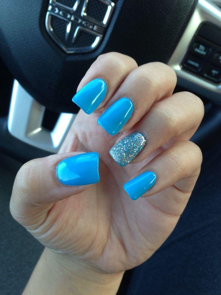 Best 25+ Sky blue nails ideas on Pinterest | Light blue nails ...