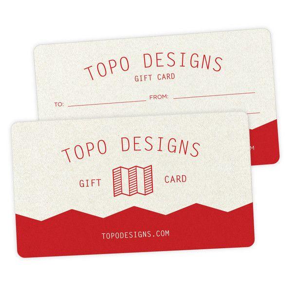 Topo Designs Gift Card