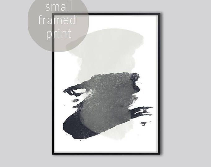 Abstract artwork, grey, black, abstract prints large, abstract art print, home decor, abstract painting, modern art water Small Framed