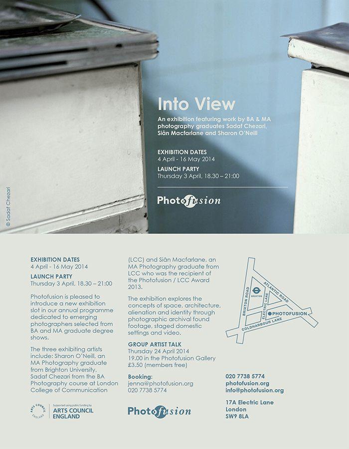 Into View, Photofusion, April 04-May 16 2014